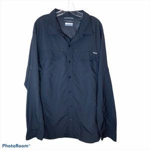 Colombia Men's Grey Omni- Shade Shirt
